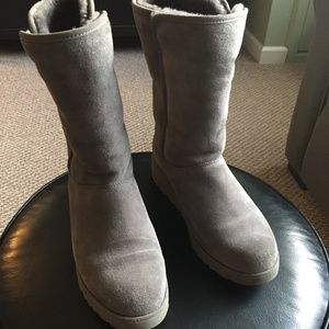 UGG Amie Wedge Boot in Grey